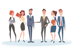 Business People Group Team Human Resources Businessman Hand Shake Agreement Stock Photography