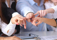 Business people group team point finger at you Royalty Free Stock Photography