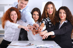 Business people group team point finger at you Stock Photography