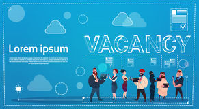 Business People Group Vacancy Search Employee Position Human Resources Recruitment. Flat Vector Illustration Stock Photos