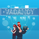 Business People Group Vacancy Search Employee Position Human Resources Recruitment. Flat Vector Illustration Stock Image