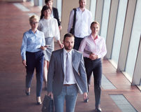Business people group walking Royalty Free Stock Images