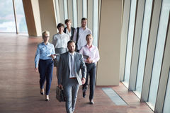 Business people group walking Royalty Free Stock Photos