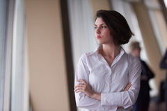 Business people group, woman in front  as team leader Royalty Free Stock Photography
