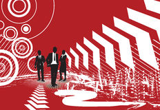 Business people on halftone background Stock Images