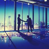 Business People Hand Shake Office City Concept Stock Images