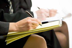 Business people hands Stock Images