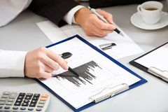 Business people hands stock photography