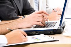 Business people hands Royalty Free Stock Photography