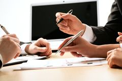 Business people hands Stock Image