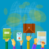 Business People Hands Hold Documents Briefcase Royalty Free Stock Photography