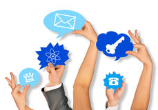 Business people hands Royalty Free Stock Photo