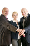 Business people hands making a pile Royalty Free Stock Photography