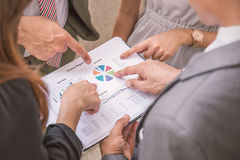 Business people hands pointing to the document Royalty Free Stock Image