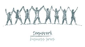 Business people hands spirit togetherness vector Stock Photography