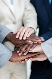 Business people hands together Royalty Free Stock Photos