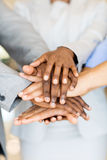 Business people hands together Royalty Free Stock Images