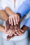 Business people hands together Royalty Free Stock Photography
