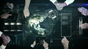 Business people hands working stock footage