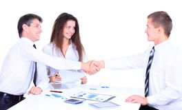Business people handshake Royalty Free Stock Photography