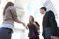 Business People Handshake Stock Images