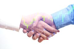Business people handshake after agreement or contract conclude Stock Image