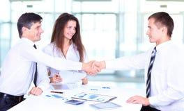 Business people handshake. Businessmen hand shake Stock Images