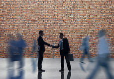 Business People Handshake Greeting Agreement Corporate Concept.  Royalty Free Stock Images
