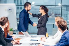 Business People Handshake Greeting Deal Concept Stock Images