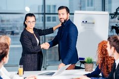 Business People Handshake Greeting Deal Concept Royalty Free Stock Photos