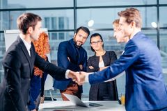 Business People Handshake Greeting Deal Concept Royalty Free Stock Images