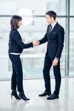 Business People Handshake Greeting Deal Concept. Business People Handshake Greeting Deal and Agreement Concept Royalty Free Stock Photo