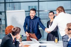 Business People Handshake Greeting Deal Concept. Business People Handshake Greeting Deal and Agreement Concept Stock Images