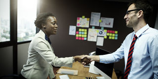 Business People Handshake Greeting Deal Concept.  Royalty Free Stock Image