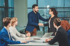 Business People Handshake Greeting Deal Concept. Business People Handshake Greeting Deal and Agreement Concept Stock Photos