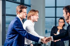 Business People Handshake Greeting Deal Concept. Business People Handshake Greeting Deal and Agreement Concept Royalty Free Stock Images
