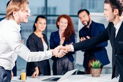 Business People Handshake Greeting Deal Concept. Business People Handshake Greeting Deal and Agreement Concept Stock Photo