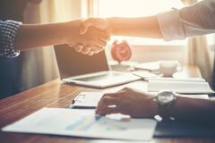 Business People Handshake Greeting Deal at work. Business People Handshake Greeting Deal at work Royalty Free Stock Images
