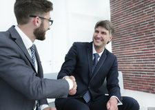 Handshake manager and attorney in the office Stock Images