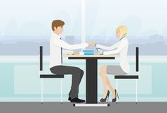 Business people handshake meeting signing Royalty Free Stock Image