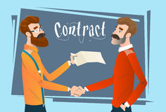 Business People Handshake Meeting Signing Agreement, Businessmen Hand Shake Contract Stock Photos