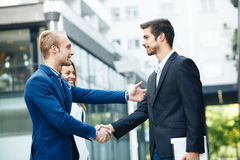 Business people handshake outdoor Royalty Free Stock Photography