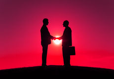 Business People Handshake Partnership Togetherness Concept Royalty Free Stock Images