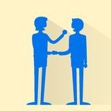 Business people handshake silhouette, businessmen Royalty Free Stock Photo