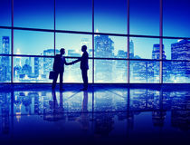 Business People Handshake Silhouette Concept.  Royalty Free Stock Photo
