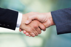 Business people handshake: team work Royalty Free Stock Photography