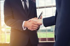 Business people handshake to partner. Concept of Agreement.  Stock Photo