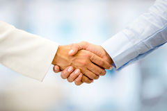 Business people handshaking Royalty Free Stock Photos