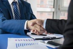 Business people handshaking Stock Image