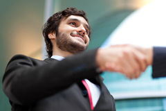 Business people handshaking Stock Images